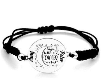 Bracelet Bölbo® I love you Silver oval mom