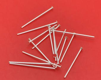 50pcs Silver Flat Head Pins 20mm Jewelry Making Needles