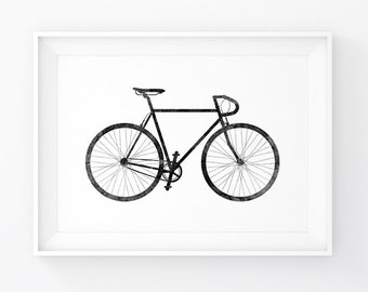 Bike Prints, Posters Bike, Wall Prints Bike, Poster Bicycle, Bike Wall Art, Bike Printable, Artwork Bike, Bike Wall Decals, Wall Decor Bike