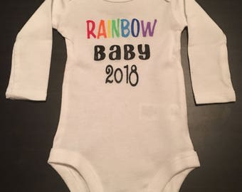 Rainbow baby body suit