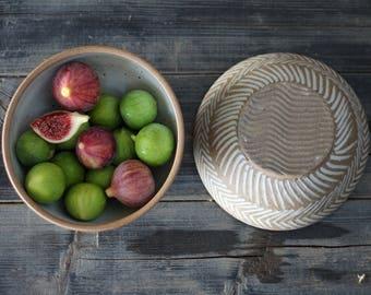 hand thrown pottery bowl, ceramic and pottery, ceramic bowl, pottery serving bowl, handmade dinnerware, ceramic bowl set, stoneware bowl set