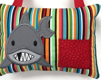 Tooth Fairy Pillow Boys - Shark Tooth Fairy Pillow - First Lost Tooth - My Tooth Fairy