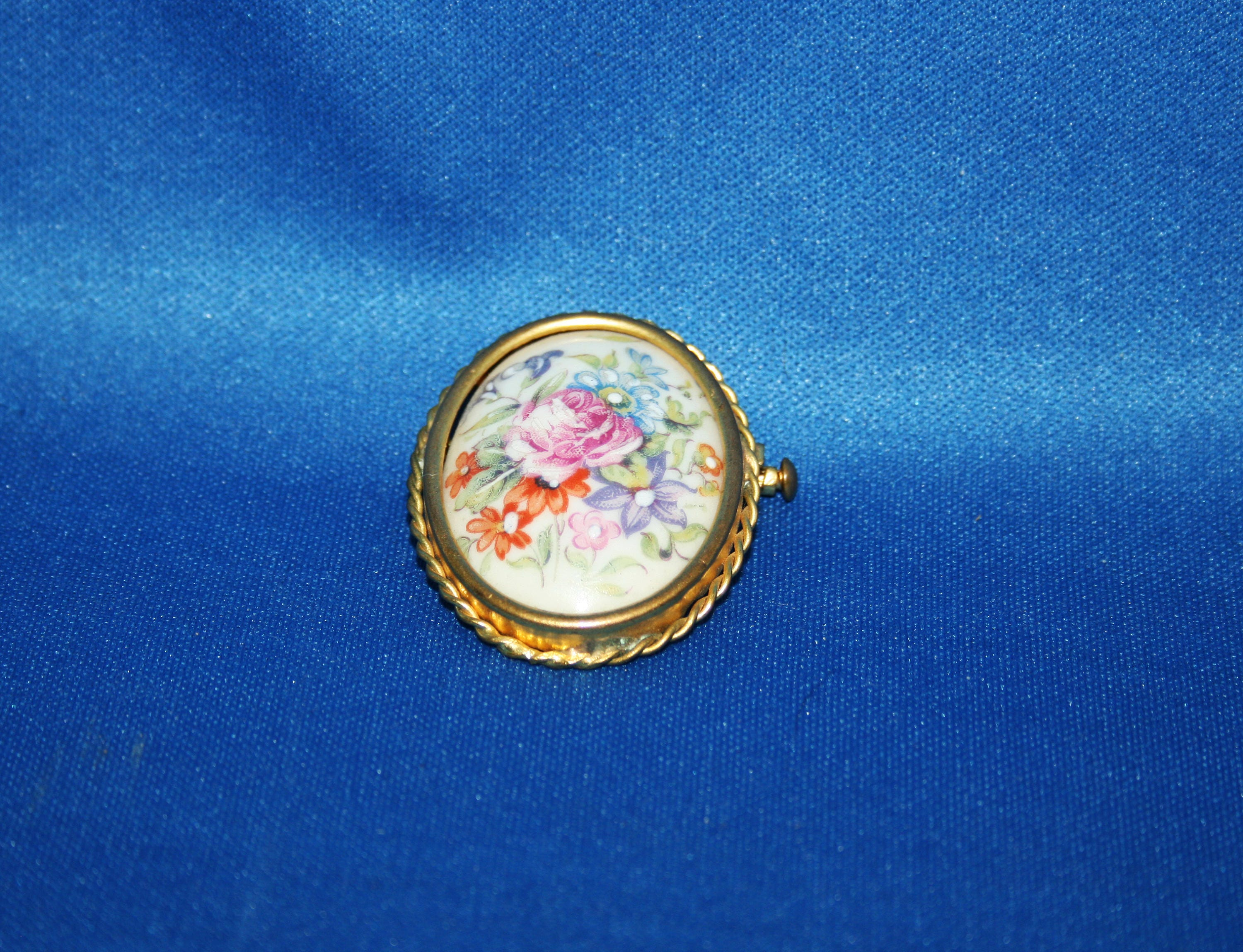 shop suit pin the enamel collection poppy tone gold brooch