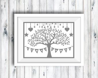 Printable Personalised Family Tree, Family Tree Print, Family Keepsake, Anniversary Gift, Birthday Gift, Family Tree, Personalised