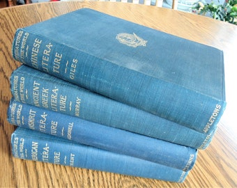 4 Literatures Of The World American/Trent 1903 Ancient Greek/Murray 1906 Sanskrit/MacDonell 1900 Chinese/Giles 1901 Original FIRST EDITIONS