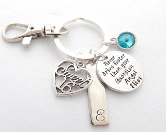 Sweet 16 Keychain-!6th Day Gift-Guardian Angel Keychain-Sweet 16 Gift--New driver Keychain-Sweet sixteen gift ideas-Sweet 16 jewelry-Angel