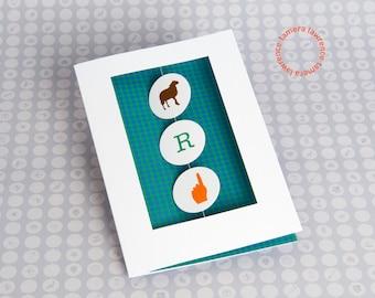 Ewe Are Number One Rebus Birthday Card