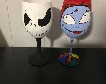 Jack and Sally set wine glasses