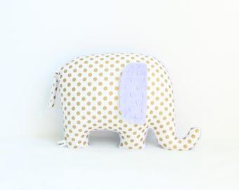 Purple nursery decor girl, Elephant Pillow, elephant decor, nursery pillow, gold and purple, purple nursery, baby shower gift, girl gift