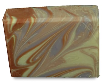 Amber, Orange and Lavender Cold Process Hand Made Natural Soap Bar with Aloe and Vitamin E