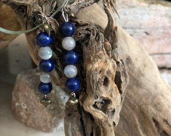 Lapis and Labradorite Earrings