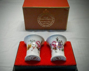 2 Royal Crown Derby Posie vases in Posies design.