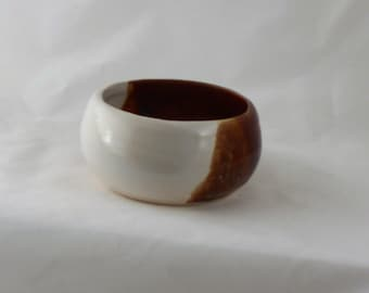 brown pottery Shaving Bowl