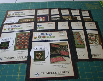 Complete set Thimbleberries Village Green Block of the Month quilt patterns