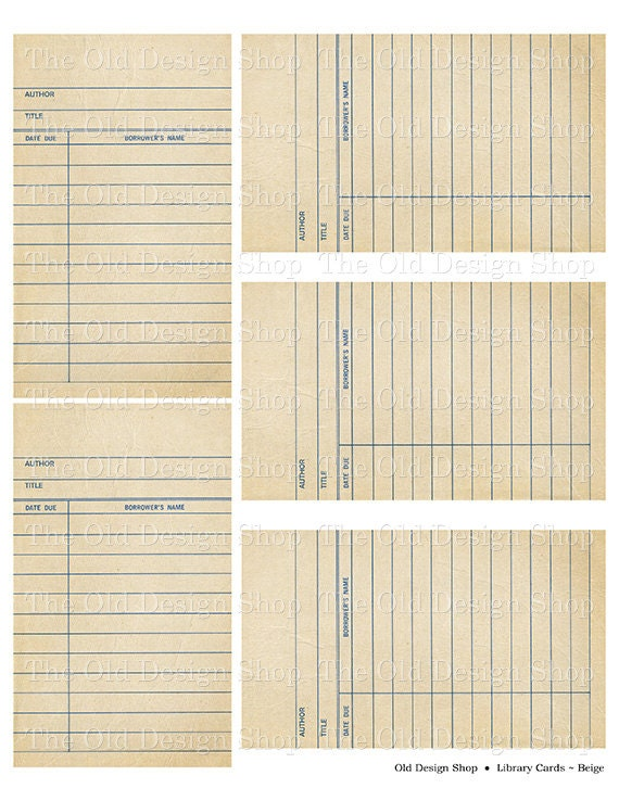 library checkout sheet