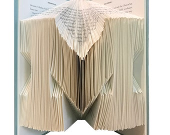 Family Initial- Folded Book Art