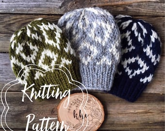 Pattern Package*** The Ainsley Beanie PATTERN & The Sedona  Beanie PATTERN PDF files