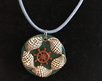 Beside the Sea - Shells and Wheel Necklace