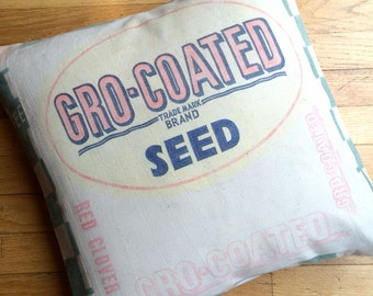 18 Inch Grain Sack Pillow Sham - Red Clover Seeds