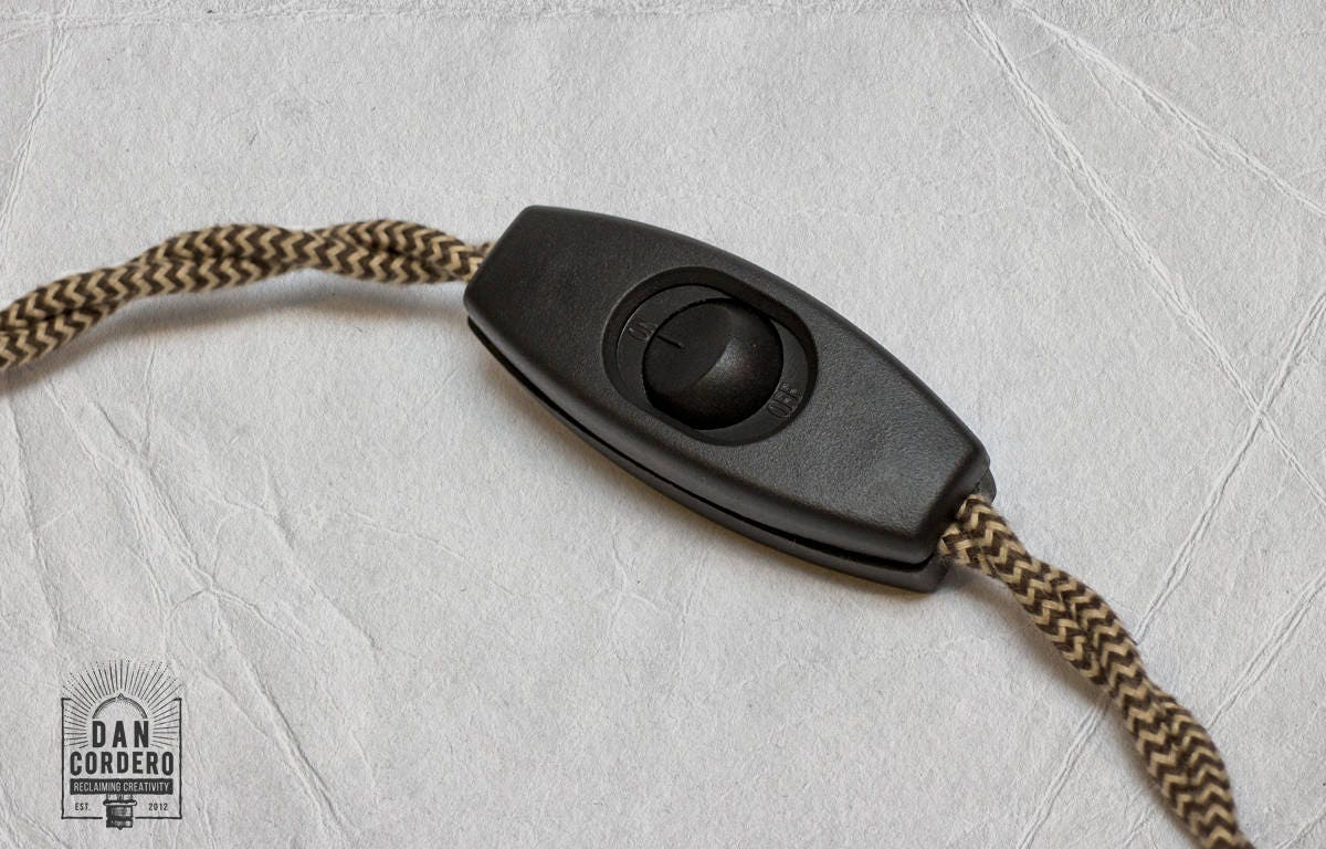 pack bulk lamp kit single kits dimmer w pendant approved copper ul cord brown light cloth itm socket