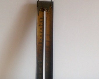 Old Brass Confectioners Thermometer