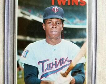 1970 Topps Rod Carew Vintage Baseball Card - Very Nice! Minnesota Twins - Twins Gift, Gift for Men, Boyfriend Gift