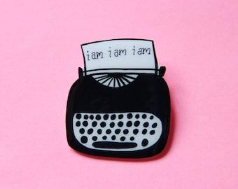 Sylvia Plath Typewriter Brooch / Pin