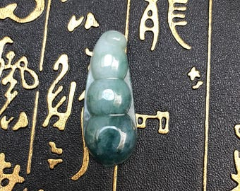 Superb bean Natural Green jade beans pendants