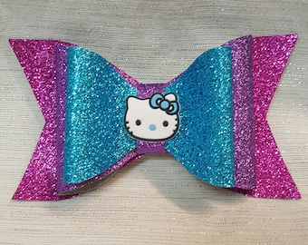 Hello Kitty Inspired Glitter Bow