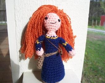 Crochet Brave Merida Doll