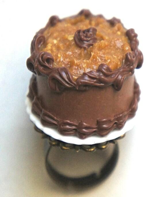 German Chocolate Cake Ring Birthday Cake Ring Celebration