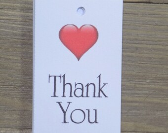 Thank You Wedding Favor Tags with a heart Wedding Favors - Favor Tags - Thank you Tags - Personalized Favors - Bridal Tags
