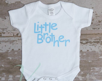 little brother, baby Romper, creeper personalized, newborn outfits, white, cute baby clothing, Romper with sayings, t-shirts
