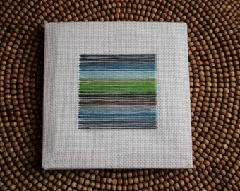 Abstract Embroidery Canvas