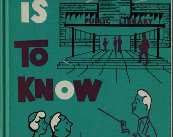A Library is to Know + Art Parsons + Leo Martin + 1961 + Vintage Humor Book