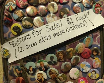 Custom Made to Order Pinback Buttons