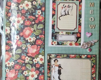 The Truth About Cats & Dogs 2 Page Pre-made Scrapbook