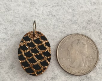 Gold Fishscale pendant