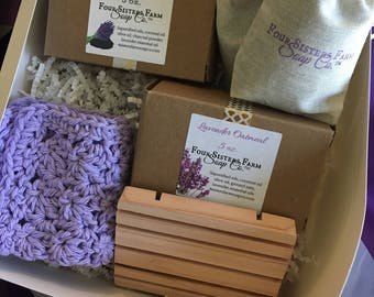 Gift for Sister, Lavender Gift Set, Luxury Gift Set, Luxurious Lavender Gift Set, Lavender Lovers, Lavender Soap, Boutique Gift