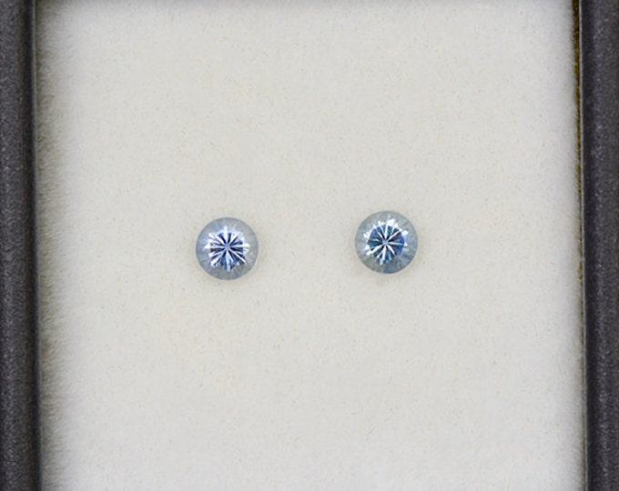 FLASH SALE! Fantastic Denim Blue Sapphire Gemstone Match Pair from Montana 0.48 tcw.