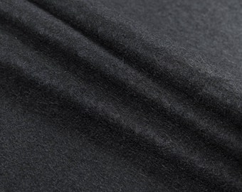 145 x 240 cm Black Wool Mohair Fabric