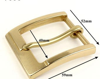 Solid Brass Buckle Golden Belts Buckle/Men Casual Buckle /Leather Strap Waistband DIY Buckle T006