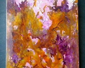 "Abstract mixed media painting ""indulgence"" 40cm x 28cm box canvas"