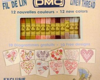 dmc linen thread 12 colors