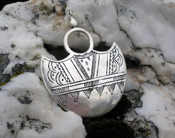 Silver pendant, Southern croos, Desert cross necklace, Tribe jewelry, Metal jewellery, Silvery necklace, Tribal gypsy jewelry