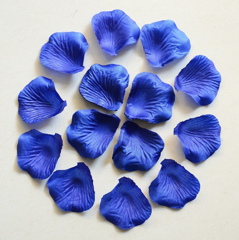 Royal Blue Rose Petals Bulk Silk Fake Flower