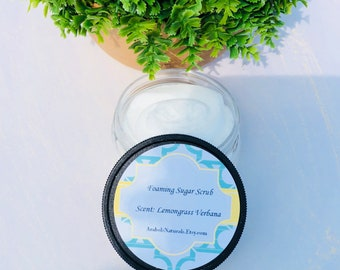 Foaming Sugar Scrub - Natural Sugar Scrub - Exfoliating Bath Whipp - Exfoliating - Foaming Sugar Scrub  - 6 Oz
