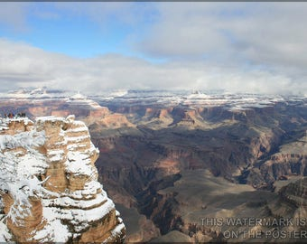 Poster, Many Sizes Available; Grand Canyon In Winter
