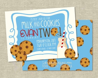 Birthday Party Digital Download | Milk & Cookies Birthday
