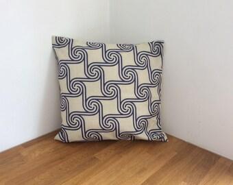 Retro Style Geometric Swirl Cushion